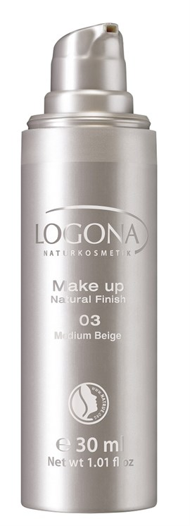 Logona Fondöten Natural Finish 30 ml Orta Bej 03